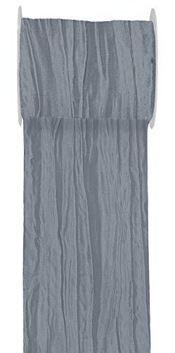 Unbekannt 15m Fripe TAFT 100mm Tischläufer Creme Grau Taupe Beige Tischdeko Hochzeit Kommunion Konfirmation, Farbe:Grau