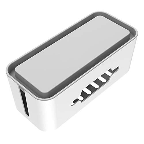MAOXI Kabelmanagementbox mit Halter Anti-Staub-Kunststoffkabel Aufbewahrungsbox für Desktop Power Strip Wire Organizer Case