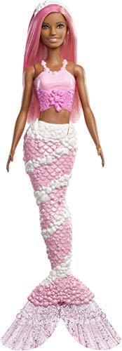 Barbie Dreamtopia - Muñeca Sirena con pelo y top rosa (Matt
