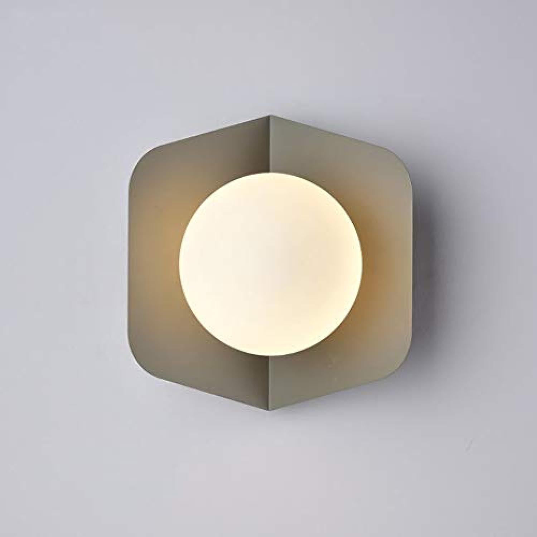Hai Ying  Modernes minimalistisches Nordeuropa Schlafzimmer Bett Studiengang Gang E27  1 (Farbe  Grau)