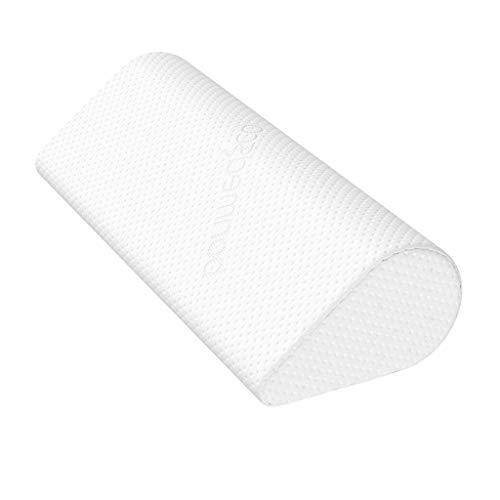 bonmedico Almohada viscoelastica Cervical Efecto antironquidos con Funda Exterior para Adultos, cojin Cervical ergonómico y Transpirable 100% poliéster para Cama Individual en Color Blanco