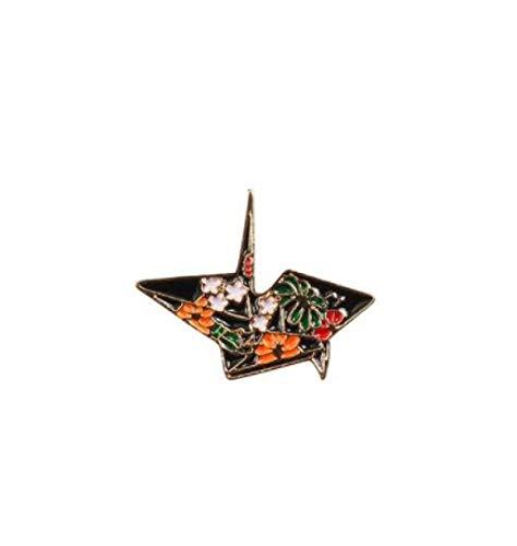 wangk Moda Dibujos Animados Broche de Pescado Insignias Astronauta tiburón tiburón Origami grulla Pins Denim Bolsa Marina Animal joyería Mujeres Origami