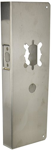 2-3//4 Backset For Double Lock Combination Locksets with 6 Centers Don-Jo 486-CW 22 Gauge Stainless Steel Classic Wrap-Around Plate Polished Brass Finish 1-3//4 Door Size 4-1//2 Width x 12 Height