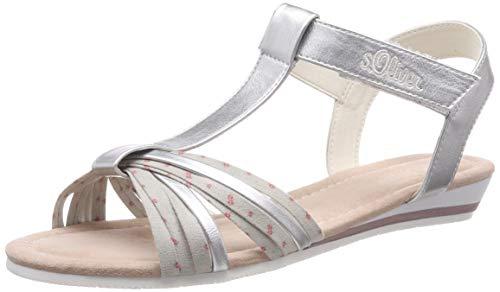 s.Oliver Mädchen 5-5-58200-22 941 T-Spangen Sandalen Silber (Silver 941), 39 EU