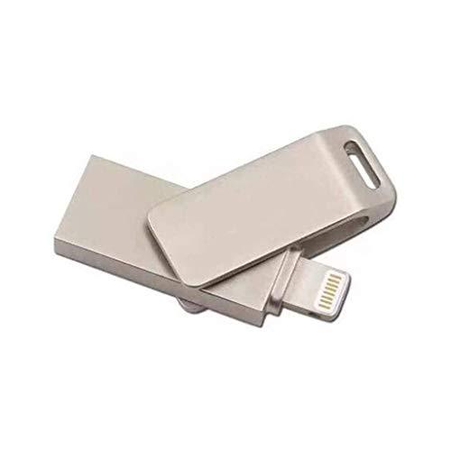 CFTGB Flash Drives Smart Phone OTG Memory Stick Drive Mini Metal Rotate Thumb Drive for PC Computer Macbook TV Car Flash Drives (Size : 16GB)