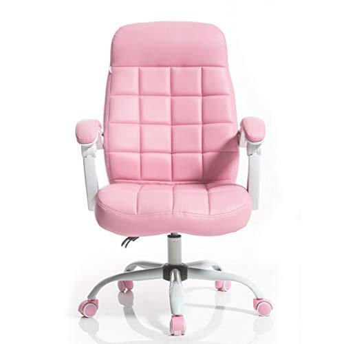 Sillas de oficina Sillas de computadora para el hogar, sillas de Juego, sillas de Juego, sillas de Espalda estudiantil, reclinadores ergonómicos (Color : Pink, Size : 64 * 48 * 105cm)