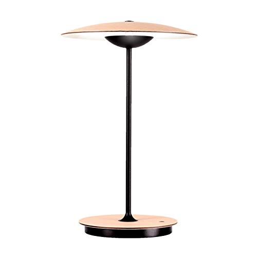 Lámpara de mesa LED Ginger de 20 m, con batería, color roble lacado, 3 niveles de intensidad, 2700 K, 478 lm
