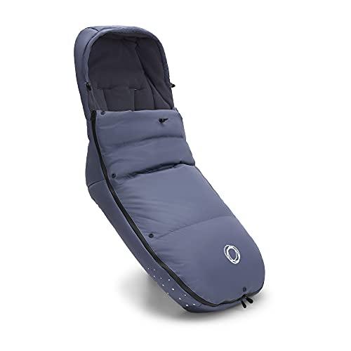 Bugaboo Saco de silla de invierno alto rendimiento y climas extremos, accesorio imprescindible para el carrito con capucha y cremallera bidireccional para mantener pies calientes en Seaside Blue