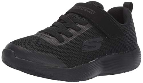 Skechers Kids Boys' DYNA-LITE Sneaker, Black/Black, 12 Medium US Little Kid