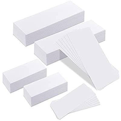 Whaline 400 Pieces Non-Woven Wax Strip, Hair Removal Wax Strips Body and Facial Wax Muslin for Arms, Legs, Underarm Hair, Eyebrow, Bikini of Women and Men (Small and Large) by Whalin