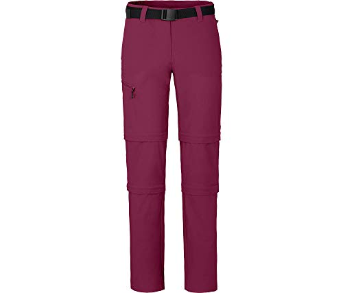 Bergson Damen Doppel Zipp-Off Hose NARRABEEN, red Plum [134], 18 - Damen