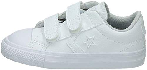 Converse Lifestyle Star Player Ev 2V Ox, Zapatillas de Estar por casa para Bebés, Blanco (White 100), 21 EU
