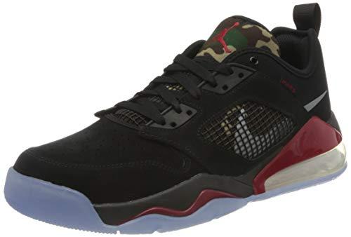 Nike Jordan Mars 270 Low, Zapatillas de bsquetbol Hombre, Black Metallic Silver Gym Red, 44.5 EU