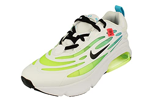 Nike Air Max Exosnese Se GS Running Trainers CV8130 Sneakers Chaussures (UK 6 US 6.5Y EU 39, White Blue Fury Volt Black 100)