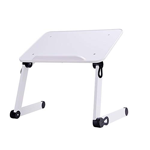 GXC Computerklaptafel, multifunctionele inklapbare hoog- en lage slagtafel, slaapkamer, inklapbare aluminium houder, klaptafel, snacktafel