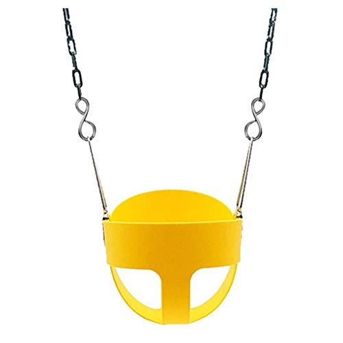 Columpio Juego Niños Niños para Interiores Y Exteriores Silla Giratoria Extraíble Equipo De Entrenamiento De Educación Temprana (Color : Yellow, Size : B)