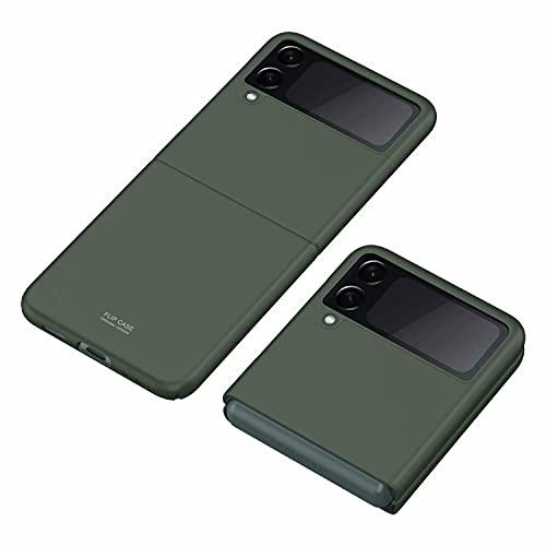 BAIDIYU Funda para Samsung Galaxy Z Flip 3 5G, Protección de Cuerpo Completo Ultrafina de 360 Grados, Funda Protectora de PC Dura Ultrafina con Superficie Lisa.(Verde)