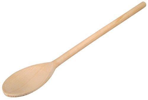 5x Kochlöffel aus Holz, hitzebeständiger Rührlöffel, passend für jeden Topf, keine Kratzer im Geschirr, Holzlöffel mit ovalem Kopf, zum Rühren und Abschmecken, Naturprodukt hergestellt in Europa aus heimisches Buchenholz mit antibakterieller Eigenschaften, zum Kochen, Backen, Basteln und Dekorieren geeignet, 30 x 4,9 x 1,2 cm (5 Stück)
