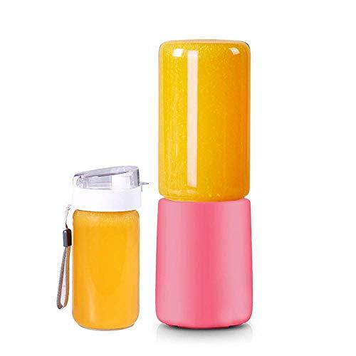 HYLK Licuadora portátil, licuadora de Viaje 400 ml USB Recargable exprimidor batidora Mini licuadora de Frutas Personal batidora con 4 Cuchillas de Acero Inoxidable para el hogar, la Oficina, al