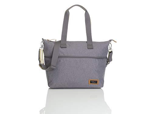 Storksak Travel Luggage Expandable Waterproof Tote Diaper Bag in Gray