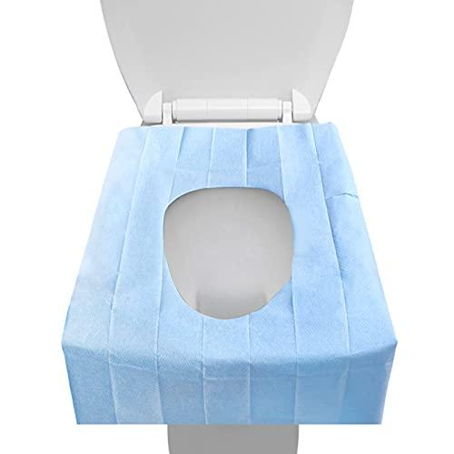 EQLEF - Copriwater usa e getta, in carta, 30 pezzi, usa e getta, formato tascabile, antibatterico, impermeabile, per campeggio, viaggi, bagno, servizi igienici pubblici