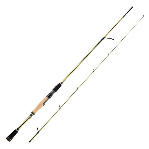 KastKing WideEye Walleye Casting & Spinning Fishing Rods, Technique Specific, Toray Carbon IM9 Rod Blanks, Fuji Guides & Reel Seats, 3A Cork Handle(Power Jig Rod 6'8' 2 pc Spin Medium)