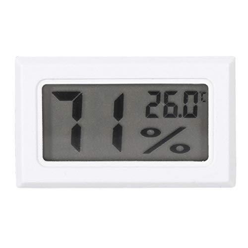 Ellenny Monitor de Humedad - Higrómetro LCD Digital Termómetro de Interior Monitor de Humedad para el hogar, la Oficina, el Invernadero(Blanco)
