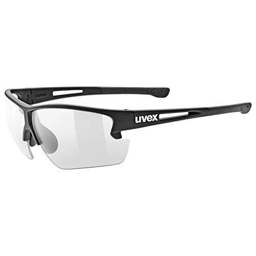uvex Unisex– Erwachsene, sportstyle 812 v Sportbrille, black mat, one size