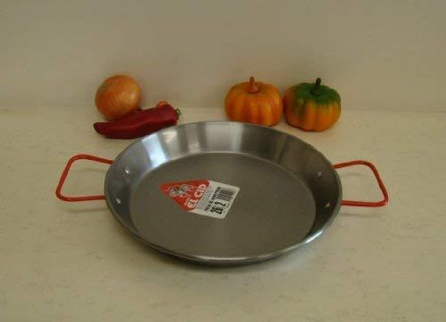 Garcima 10-Inch Carbon Steel Paella Pan, 26cm