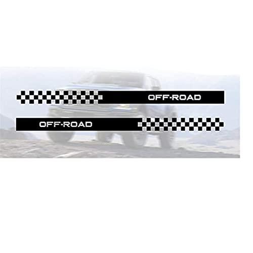 YFBB Etiqueta engomada de la Falda de la Raya Lateral del Cuerpo de Carreras de Coches para Todos los Coches Pegatina de Vinilo para Coche, para Ford Ranger F-350 F-450 F-650 4 × 4