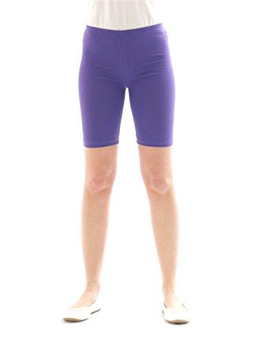 yeset Kinder Shorts Sport Pants Sportshorts Kurze Leggings aus Baumwolle Jungen Mädchen violett 134