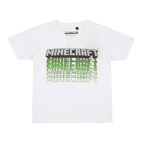 Minecraft Jongens T-Shirt REPEAT LOGO