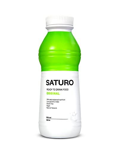 SATURO® Trinkmahlzeit Original | Astronautennahrung Mit Protein & 500kcal | Vegane Trinknahrung Mit Wertvollen Nährstoffen | 12 x 500 ml