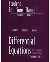 differential equations solution manual