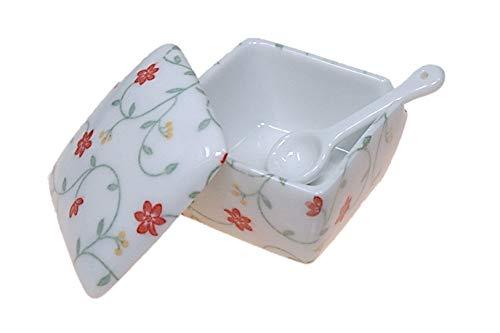 玉手箱 薬味入 日本製 陶器 スプーン付き 一味 塩 山椒 七味 うどん そば 豆板醤 辛子 業務用食器 ACSWEBSHOPオリジナル