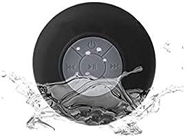 Duş hoparlörü Su Geçirmez Bluetooth Speaker Kablosuz Hoparlör Mikrofonlu Konuşma Özellikli Siyah