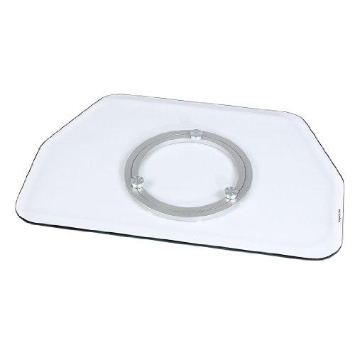 Hama TV-Drehteller für Fernseher und Monitore (Bis 60 kg, Drehbar um 360°, 80 x 40 cm, Sicherheitsglas) transparent