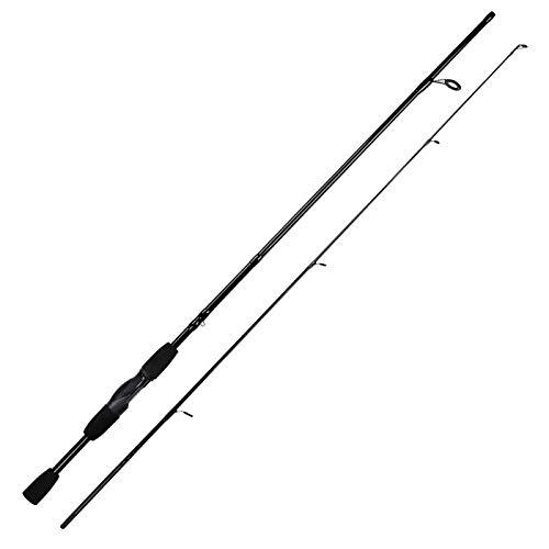 Hayandy Lure Gewicht 4.5-13g Carbon-Faser-Angel tragbare 2 Abschnitt 1.8M Eva Griff Ultraangel Casting Rod Pole-Spinning (Color : Spinning)