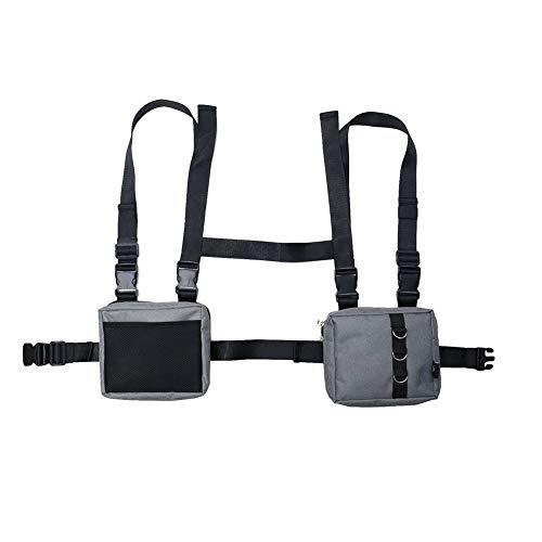 Chest Bag, Universal Bag Holster for Two Way Radio, Under Arm Shoulder Wallet Cellphone Holster Case, Adjustable Tactical Shoulder Bags Chest Rig Bag for Men Women ZSBX11