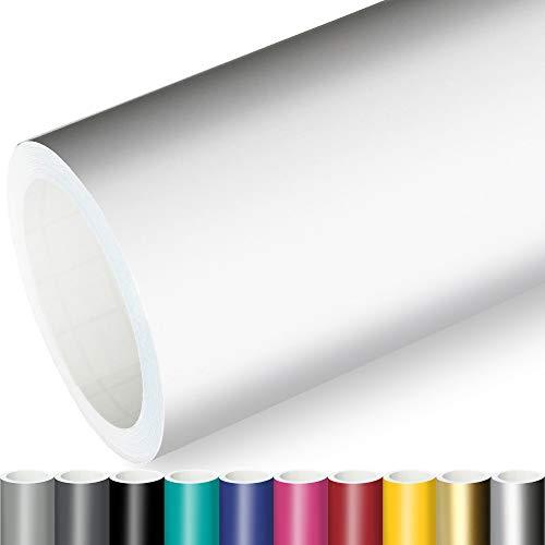 Actinium® Klebefolie 6€/m² Weiss Matt   5m x 0,63m selbstklebende matte Folie   Möbelfolie selbstklebend Küchenfolie Plotterfolie