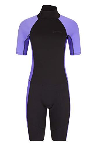 Mountain Warehouse Womens Shorty Wetsuit - 2.5mm, Neoprene Swimsuit Dusky Purple 16-18