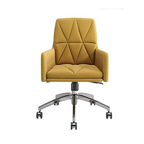 Nologo Freizeit-Stuhl Computer Stuhl Stoff Bürostuhl Rückenlehne Drehstuhl einfach und komfortabel Sedentary Rückenlehne Drehstuhl Einfache (Color : B)