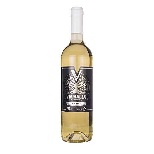 Valhalla Hidromiel Clásica | Bebida Ecológica, Aroma Tropical a Frutas Blancas, Sabor Semi-seco, Botella de 75 cl