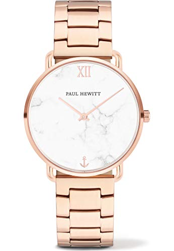 Paul Hewitt Damen Analog Quarz Uhr mit Edelstahl Armband PH-M-R-M-33S