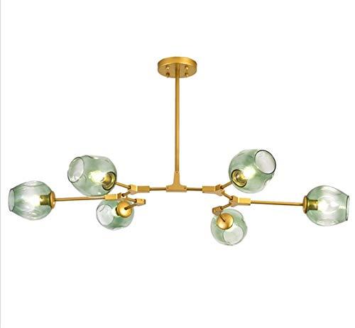 boaber Cena nórdica, salón, sucursos, hierro forjado, candelabro, tienda postmoderna, modelo espacio, personalidad creativa, lámpara molecular de cristal
