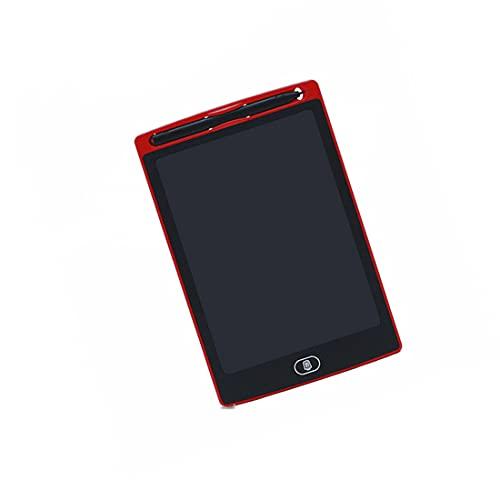 Tavolo da Disegno Magnetico, Lavagna Digitale Lcd, Tavolo da Disegno Portatile da 12 Pollici, Lavagna Cancellabile, Adatto per la Pittura di Famiglia per Bambini, Regali (rosso, 12 pollici)