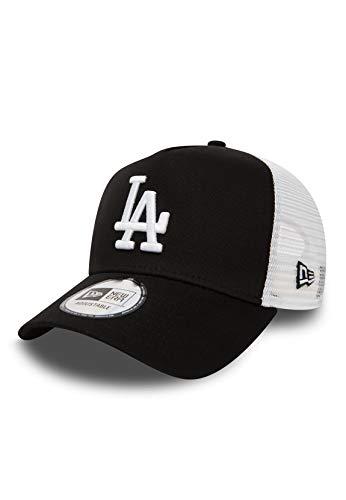 New Era Los Angeles Dodgers Frame Adjustable Trucker Cap Clean Black/White - One-Size
