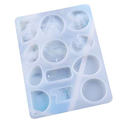 ZYYXB Moldes de silicona para pendientes, moldes de resina de resina epoxi, moldes de resina epoxi, moldes de joyería, kits de silicona para manualidades, color blanco