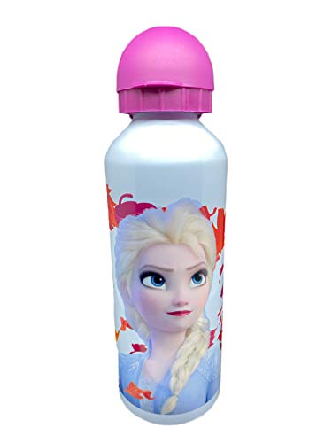 YUNA Botella de aluminio con boquilla y tapa 500 ml - (Frozen C)