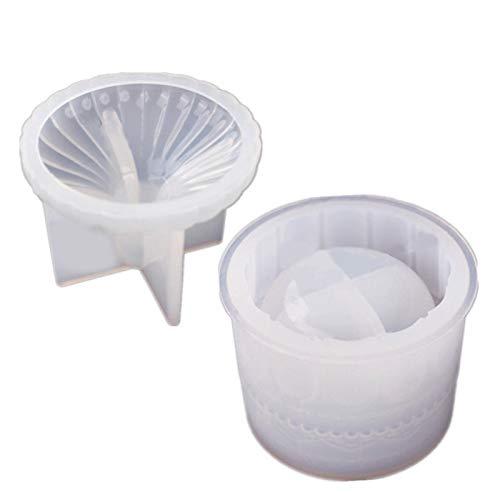 N/Z Epoxidharz Formen Silikonform,DIY Kristallepoxid Kosmetikbox, Schmuckschale Mit Tassendeckel,Dekoration Schmuckständer